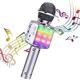 ShinePick Micrófono Karaoke Bluetooth, Microfono Inalámbrico Karaoke Portátil con Altavoz para Niños Canta Partido Musica, Co
