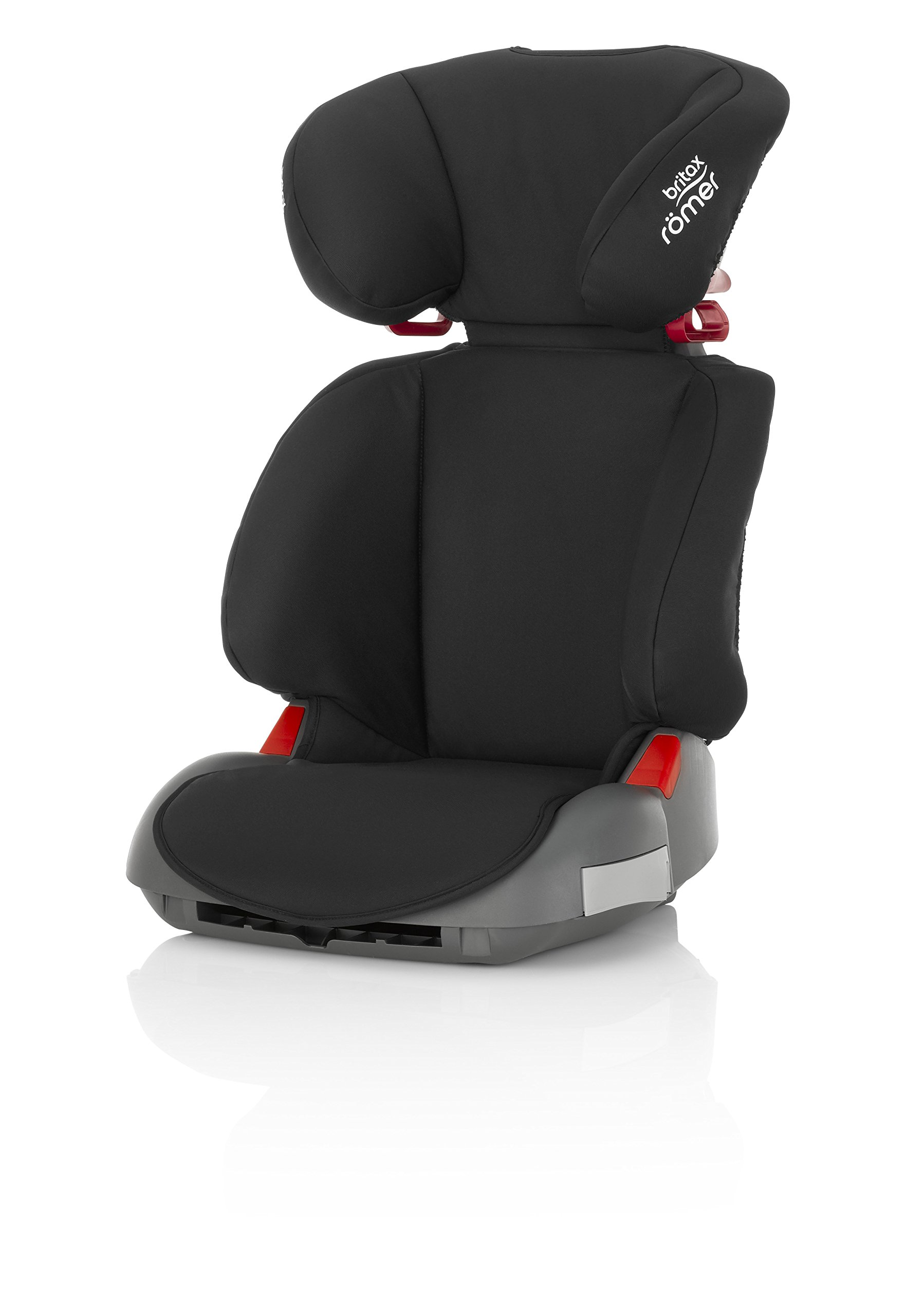 Britax Römer ADVENTURE Group 2-3 (15-36kg) Car Seat - Cosmos Black Britax Römer Intuitively positioned seat belt guides for straightforward installation every time. Machine washable seat cover that can easily be removed, so you can clean up quick and get on your way Reassurance of highback booster safety with side impact protection Lightweight, easily transferable shell 1