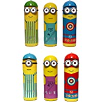 Perpetual Bliss Kids Fashion Laxmi Collection Mix Design Minions Shape Plastic Box with Sketch Colours Set (Multicolour…