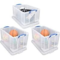 Really Useful Box 2x 84 Litre + 1x64 Litre Storage Box Clear