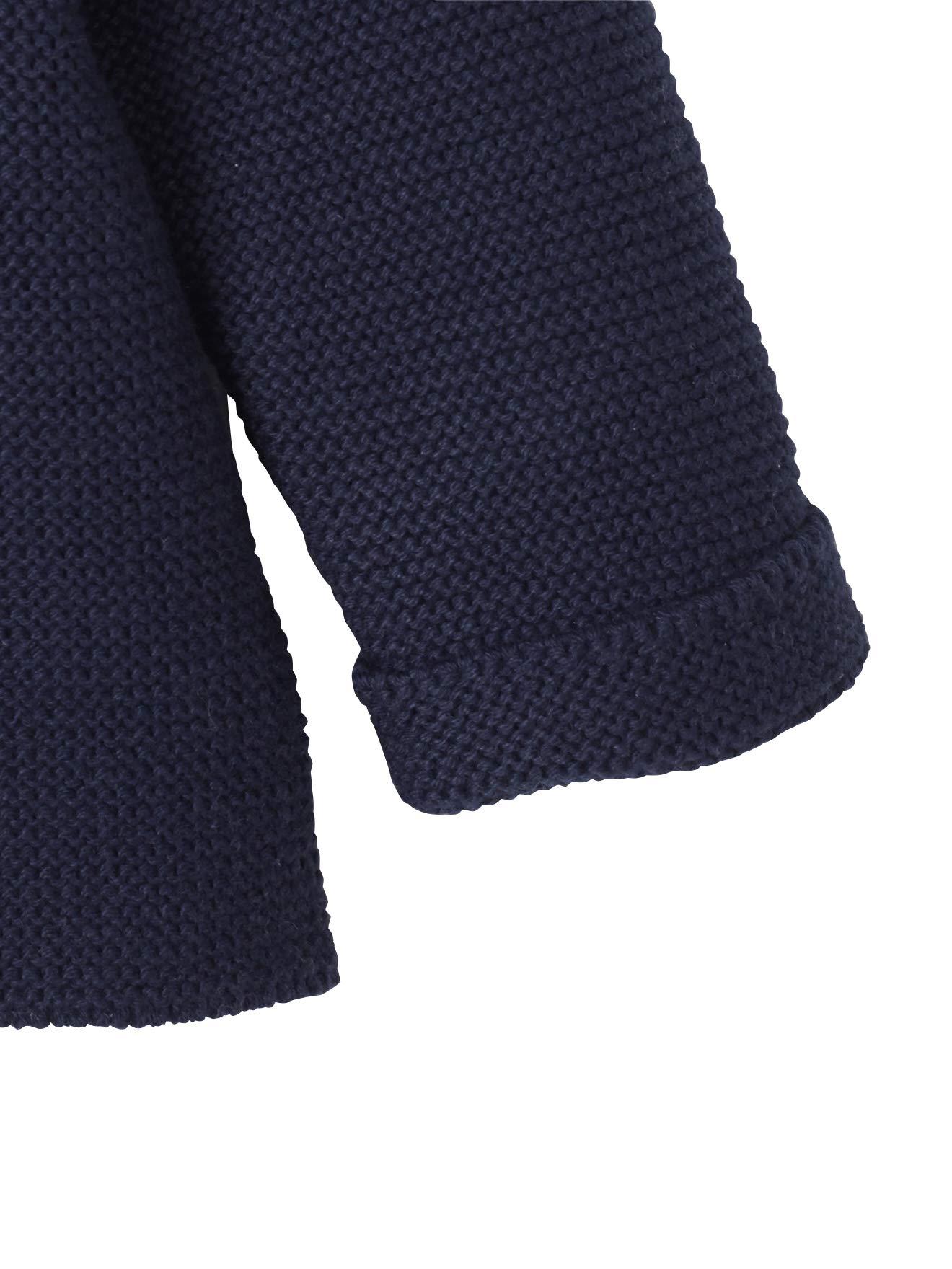 VERTBAUDET Chaqueta bebé recién nacido tricotada de punto bobo BLANCO CLARO LISO 3M-60CM 3