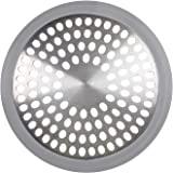 OXO Good Grips, Filtre pour bonde de baignoire, Bonde de baignoire en acier inoxydable, Gris