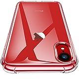 CANSHN Funda iPhone XR, Carcasa Protectora Antigolpes Transparente con Parachoques de TPU Suave Flexible [Slim Delgada] Anti-
