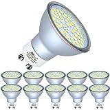 10x 4W GU10 LED Bulbs Cool White Spot Lights Replace 35W Halogen 6000K 240V for Ceiling Spotlight Downlight Fitting
