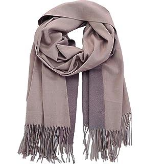 b9454ef2734e43 Caripe Damen Winterschal XXL Viskose Wolle warm groß Winter Schal Stola  zweifarbig - S8769