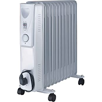 13 Fin Oil Filled Radiator 2500W 3 Heating Elements 6 ...