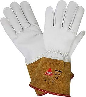 gants de travail r/ésistants /à la chaleur extr/ême gants de protection de travail gants de travail anti-coupe Gants de soudage en cuir de 60 cm avec manches extra longues gants de chemin/ée