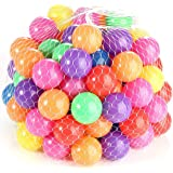 Mumoo Bear 5.5cm 100PCS Soft Plastic Kids Play Ball,Ocean Ball,Colorful Ball Fun Ball Kids Ball Swim Pit Toy Ball Tent Toddle