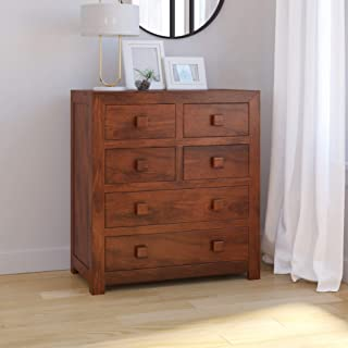 Induscraft Solid Wood 6 Drawers Chest