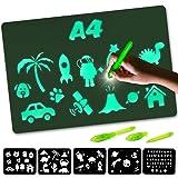Nene Toys – Pizarra Mágica de Luz – Tamaño A4 – Tablero Luminoso para Dibujar en la Oscuridad – Juguete Infantil Educativo pa