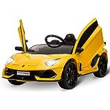 HOMCOM Coche Eléctrico para Niños de +3 Años Lamborghini SVJ Batería 12V con Mando a Distancia Velocidad de 3-5 km/h Música y