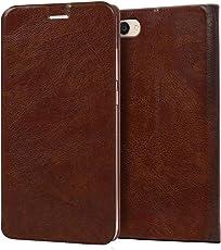 Knotyy Vivo V5 Flip Cover/Vivo V5 Premium Luxury Slim PU Leather Case/Vivo V5 Flip Cover Case for Vivo V5 - Brown