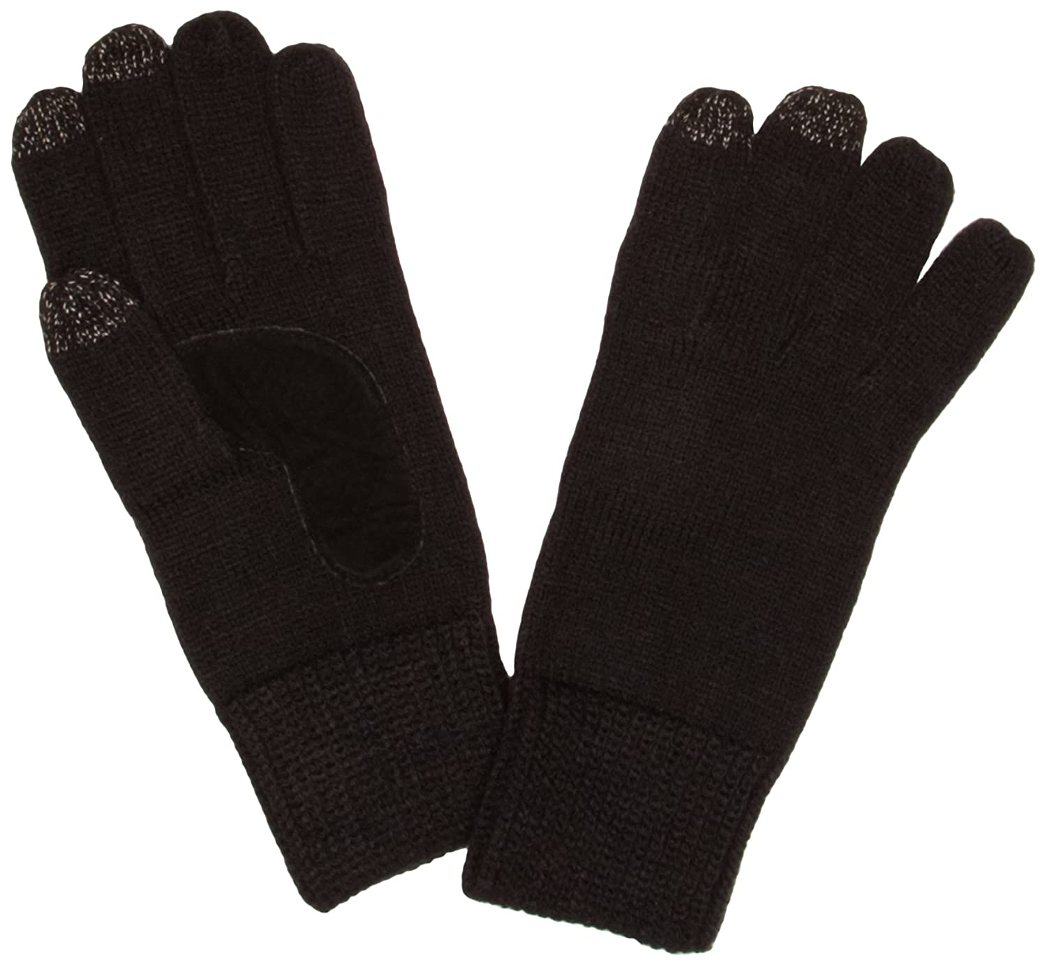 Mens gloves isotoner - Isotoner Chunky Knit 3 Finger Smartouch Men S Gloves Black One Size Amazon Co Uk Clothing