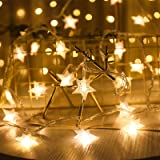 Guirnalda de Luces,Star Luces de Hadas Estrella de la Noche Luz de la Secuencia 6M 40Pcs LED Estrellas de Luces Brillante Dec