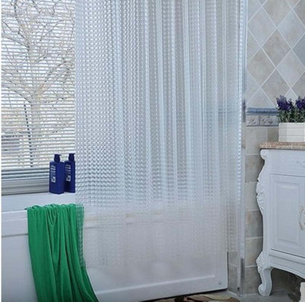 Tenda della doccia cristallo 3D EVA trasparente Mildewproof No muffa ispessito Curtain Bathroom180 *