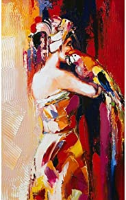 Pitaara Box Portrait of The Woman with A Parrot Canvas Painting MDF Frame 16 X 25.8Inch