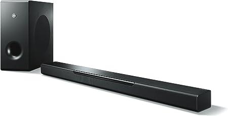 Yamaha MusicCast BAR 400 Sound Bar schwarz – Schlanke Soundleiste mit Subwoofer - die perfekte Ergänzung zur Heimkino-Anlage – Integrierte Alexa Skills zur Sprachsteuerung