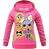 Rainbow Dolls Kitty Queen Unicorn Sudadera transpirable con capucha para niñas