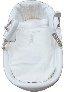 Blanc Clair de Lune Fleece Liner//Dressing pour Palm et Osier Moïse Baskets