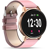 Bluetooth Smartwatch for Women,IP68 Waterproof with 1.3 Inch Full Touch Screen, Heart Rate Monitor, Sleep Monitor…