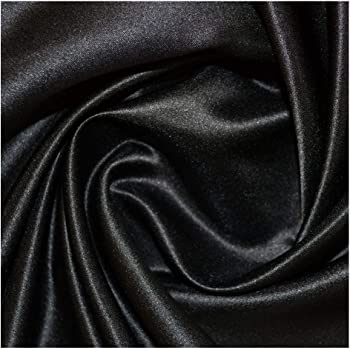 4581a0c5628 BLACK POLYESTER SILKY SATIN FABRIC LINING MATERIAL DRESSMAKING