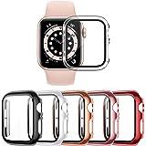 VASG [5 Piezas] Funda Compatible con Apple Watch Series 6/5/4/SE 40mm PC Funda con Protector de Pantalla de Vidrio Templado c