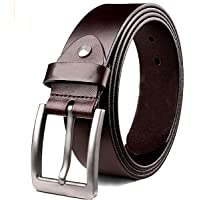 KAEZRI Mens/Gents/Boys Genuine Original Leather Belt | Formal/Casual | Brown Colour | 28 to 44 Sizes | 2 Year Warranty…