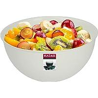 KADAX Saladier en plastique, bol mélangeur empilable en plastique, bol de cuisine, bol de service rond pour cuisine…