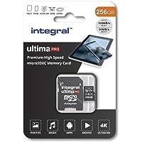 Integral 256GB micro SD card 4K video Premium High Speed memory card microSDXC Up to 100MB/s V30 UHS-I U3 A1 C10