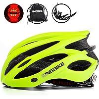 KING BIKE Fahrradhelm Helm mit LED Licht,Tragbarer Einfacher Rucksack, Abnehmbarer Visier für Herren Damen,Ce…