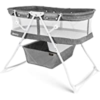 besrey Baby Bed 2 in 1 Travel Cot for 5 Months and up, Grey