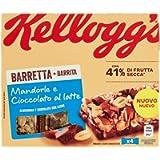 Kellogg's Barretta Mandorle e Cioccolato al Latte, 4 x 32 g