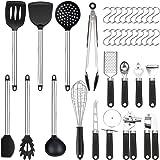 Set di 36 utensili da cucina | in silicone antiaderente resistente al calore | Set di spatole in silicone | Utensili da cucin