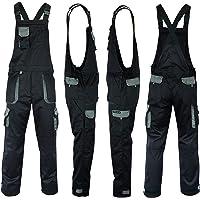 NORTH SKIN UK Bib and Brace Overalls Mens Womens Workwear Trousers Bib Pants Knee Pad Multi Pocket Tools Holder Overalls