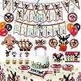 Bings Bunny Birthday Bings Forniture per feste per bambini,decorazioni per feste incluse Bings Bunny Ballons, gagliardetti, C