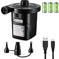Pompa Elettrica, Dr.meter La Pompa USB Pompa Gonfiabile con 3 Ugelli Rimovibili per Materasso Gonfiabile, Bambini…