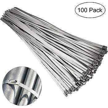 100x Metallkabelbinder Kabelbinder Kabelbinder Aus Edelstahl Stahl Kabelbinder