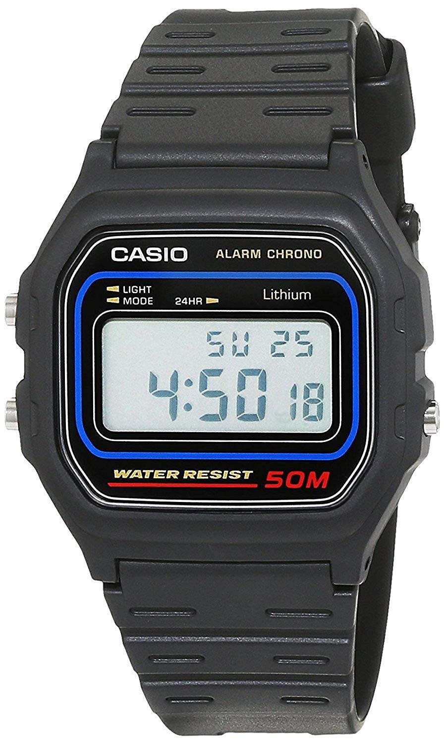 Casio Men's Watch in Resin/Acrylic Glass with Digital Display Microlight and Daily Alarm – Water Resistant