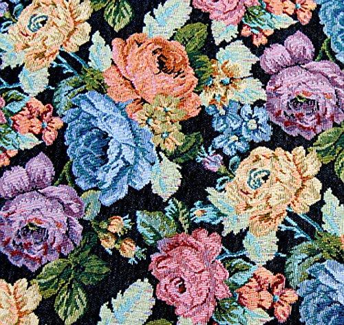 RADIKAL Reduziert !!!! Gobelin Stoff'Fleur ECLAT' METERWARE Breite 150 cm Rose Blumen Gardinenstoff...