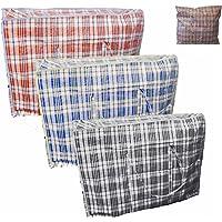6 x Sac à linge Jumbo Sac Cabas à fermeture éclair réutilisable grandes grilles Shopping Sacs de rangement par Londres