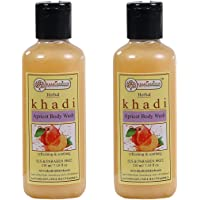 Khadi Rishikesh Herbal Apricot Body Wash combo set pack of - 2 x 210 ml (420 ml)