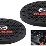 AOOOOP Car Interior Accessories for Mazda Cup Holder Insert Coaster - Silicone Anti Slip Cup Mat for Mazda 3 6 CX-3 CX-5 CX-9