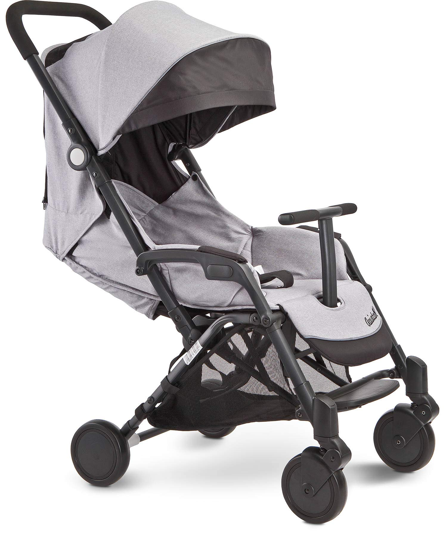 Aviator Ultralight Pushchair Grey Caretero Stroller for babies from 6 months Month weighing up to 15 kg Compact size and light weight (7.1kg) for easy manoeuvring and transport Eva foam wheels front with cushioning for driving comfort 8