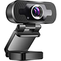 ZILNK USB Webcam mit Mikrofon 1080P Voll HD, 2MP USB Kamera für Videoanrufe/Videokonferenzen/Online-Unterricht Lernen…
