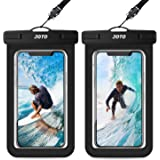 [2 Pack] JOTO Waterproof Phone Pouch Case, IPX8 Underwater Dry Bag for iPhone 12 Pro Max, 11 Xs Max XR X 8 7 6S Plus, Galaxy