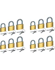 Fusine™ Pack of 12 - Premium Quality Small Brass Key Pad Lock for Travel - Suitcase, Bag, (20mm, 25mm, 30mm)