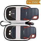 Custodia rigida Fits SanDisk 500GB/250GB/1TB/2Tb Extreme Portable SSD–SDSSDE60–500g-g25–contiene 2esterna SSD