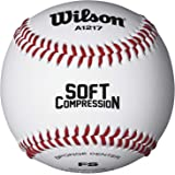 Wilson SCB Baseball L1, Palla da Baseball, Rivestimento in Pelle Sintetica