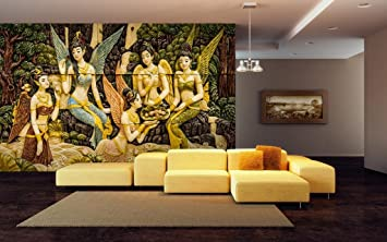 Buy 999Store Angels Self Adhesive Vynl Wallpaper Wall Murals For Living  Room Bed Room (Covers Approx 100 Sqft) Online At Low Prices In India    Amazon.in