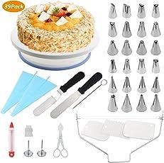 Bystep WisFox Tortenplatte drehbar Tortenständer Kuchen Drehteller Cake Decorating Turntable